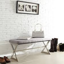 Inspire Q Beds by Chelsea Lane 40 In X Base Cow Hide Bench Hayneedle