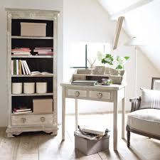 whitewashed paulownia wood bookcase maisons du monde