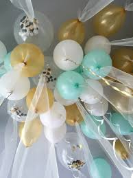 Baby Showers Ideas by Tulle Balloons For A Gender Neutral Baby Shower Baby Park