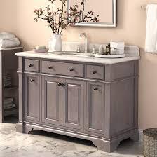 48 inch modern single sink bathroom vanity with white carrera