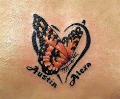 butterfly with children s names
