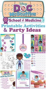 Doc Mcstuffins Home Decor Doc Mcstuffins Of Medicine Week U2013 Free Printables U0026 Party Ideas
