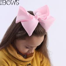 big hair bows 60colors 1pc big hair bows boutique 8 large solid grosgrain