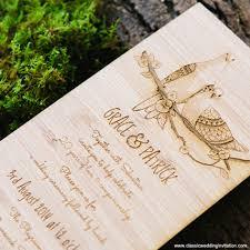Love Bird Wedding Invitations Wedding Invitations Love Bird Design On Wood