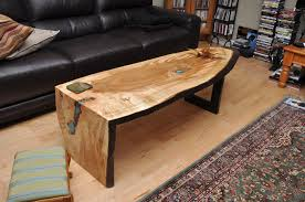 live edge table with turquoise inlay ambrosia maple coffee table with turquoise inlay soldcanadian live