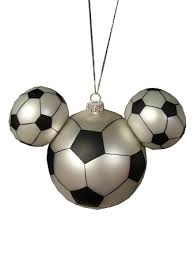 ornament mickey mouse ears soccer