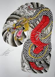 japanese half sleeve and chest panel by gazfarmerart
