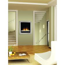 contemporary wall hung electric fireplace built closed hearth