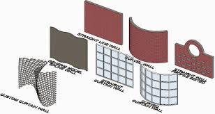 Revit Curtain Panel Revit Recess Decals