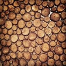 decorative logs for interior display create stunning wall