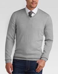 v neck sweater s joseph abboud light gray v neck merino wool sweater s