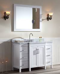 ace 49 inch contemporary double sink bathroom vanity set in white