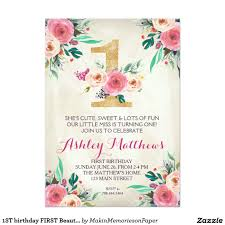 R S V P Means Invitation Cards 1st Birthday First Beautiful Floral Invitation Card Shop The