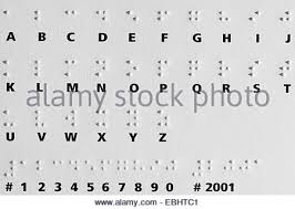 Alphabet Blind Braille Alphabet 8 Dot System Stock Vector Art U0026 Illustration