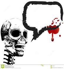 Halloween Skeleton Art Halloween Skeleton Speech Bubble Blood Royalty Free Stock