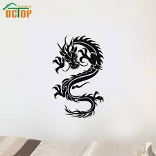 compare prices on chinese wall stickers dragon online shopping dctop chinese style home decor dragon wall stickers adhesive removable pvc material design wall decal for