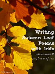 leaf decorated autumn poem literacy activities literacy and