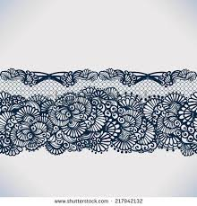 lace ribbon abstract lace ribbon seamless pattern elements stock vector