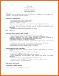 phlebotomist resume samples phlebotomy resume no experience