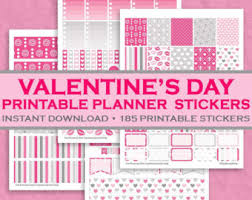 printable stickers valentines romantic valentine s day printable planner stickers 185 printable