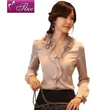 ruffled blouses for chiffon shirt boyfriend style