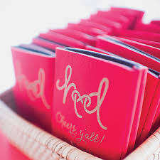 wedding koozie ideas custom wedding koozies a handy favor southern living
