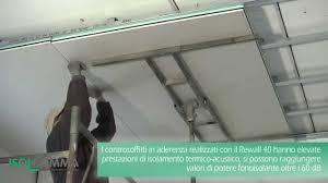 pannelli per isolamento termico soffitto isolamento acustico rewall 40 controsoffitto in aderenza
