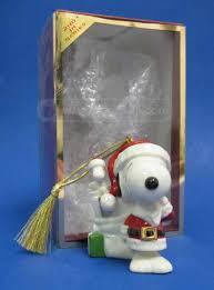 shopgoodwill lenox santa snoopy porcelain ornament