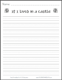 printable lined paper grade 2 writing template 1 student paper with space for a picture and no