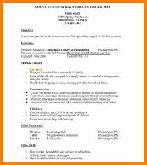 Caregiver Resume Samples by 5 Simple Job Resume Template Autobiography Format