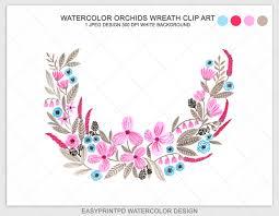 watercolor flower wreath clip art flower clip art wedding