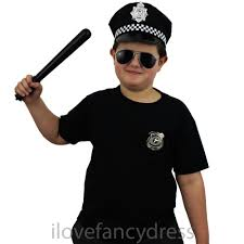 child police hat kids cop fancy dress panda cap officer costume