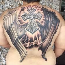 25 cross back tattoos of all sizes tattoozza