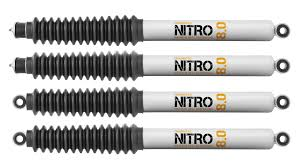 lifted jeep nitro quadratec maximum duty nitro 8 0 shock kit for 07 17 jeep