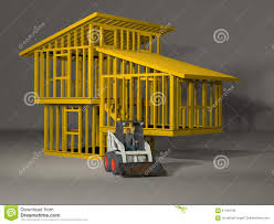 3d model of a split level house frame stock illustration image