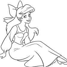 Coloriage Ariel humaine  Mes Créations  Disneyfr  Disney