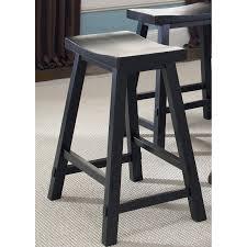 Backless Counter Stools Winsome Wood 29 Inch Rta Single Saddle Seat Bar Stool Black