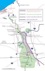 Ohio Valley Map by Bike And Hike Trail And Towpath Trail Loop Bicycle Route And Map