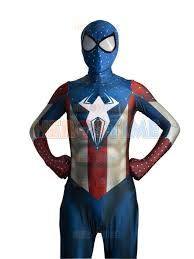 Morph Halloween Costumes 2015 Captain America Costume Spider Man Hybrid Superhero