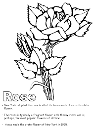 free printable pictures roses kids coloring