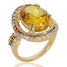 best stone rings images Rings unique design yellow stone finger ring for women at best jpg