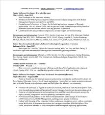 resume for software developer java developer resume template u2013 11 free word excel pdf ps