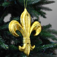 10 gold leaf fleur de lis ornament mz1610h6 mardigrasoutlet