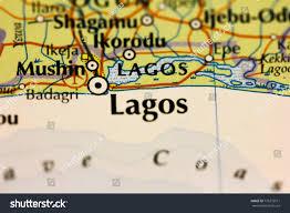 lagos city map lagos city on map nigeria stock photo 775373911