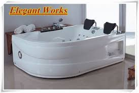 Portable Spa Bathtub Two Person Hydrotherapy Portable Small Freestanding Whirlpool