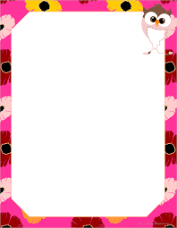 free blank writing paper spring cute owl paper http www kidscanhavefun com school paper printable writing paper for school and home with colored lined blank and bordered writing paper