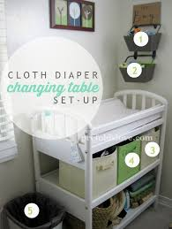 Diapers Changing Table Prefolds Cloth Changing Station