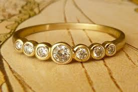 etsy diamond rings images Unique engagement rings wedding bands on etsy bezel set diamond jpg