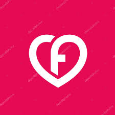 letter f heart logo icon design template elements u2014 stock vector