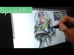 drawing buzz lightyear toy story youtube